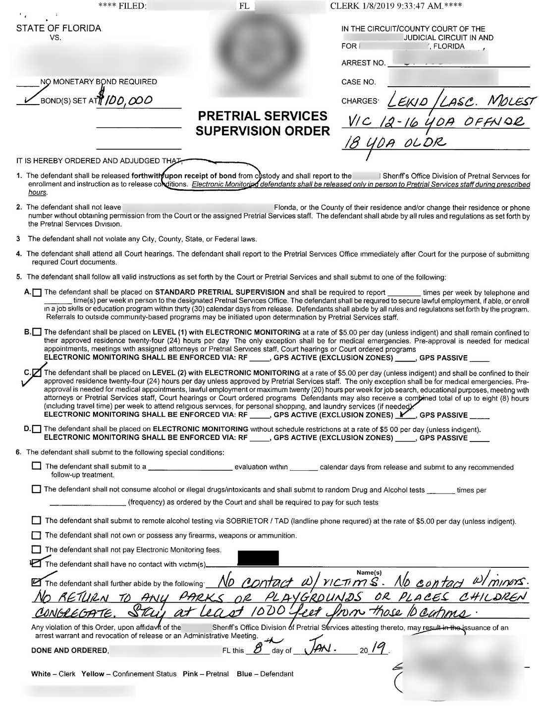 Dokument från den lokala polismyndigheten.