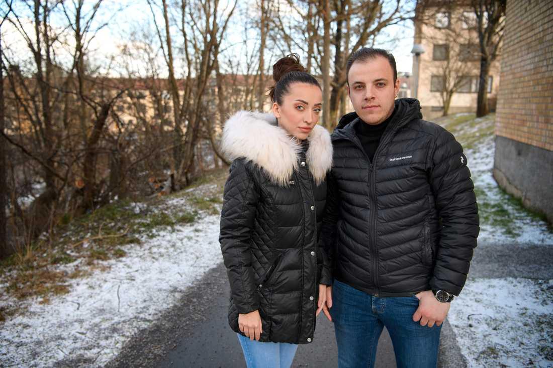 Bisher Hanineh och hans fru Reham Shikho har båda blivit av med jobbet under coronakrisen.