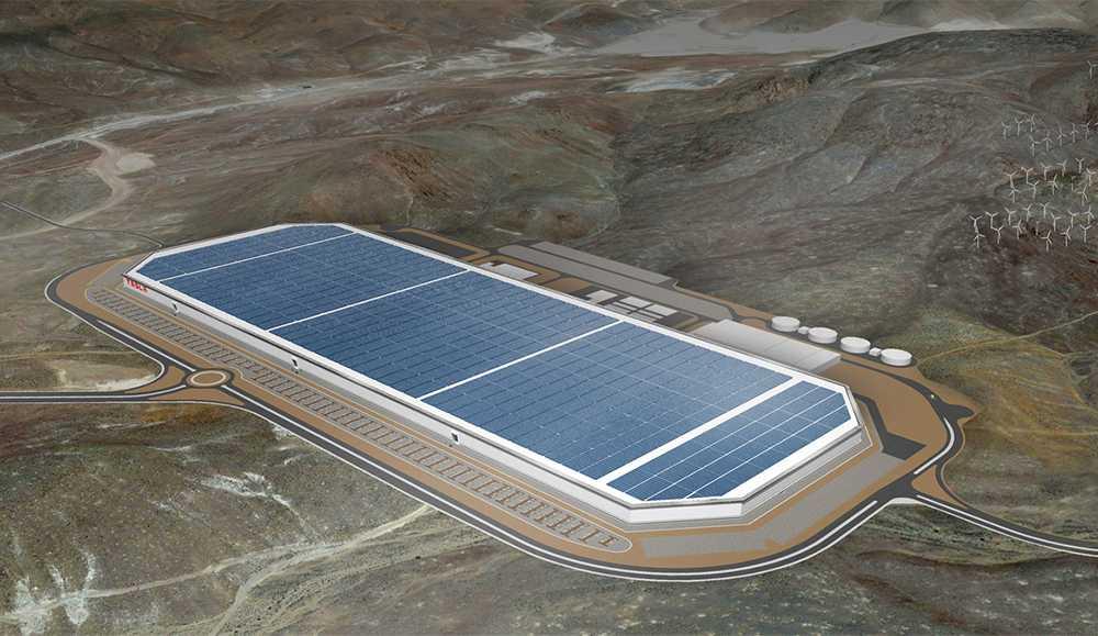 Batterier har tillverkats för hand i Teslas batterifabrik Gigafactory.