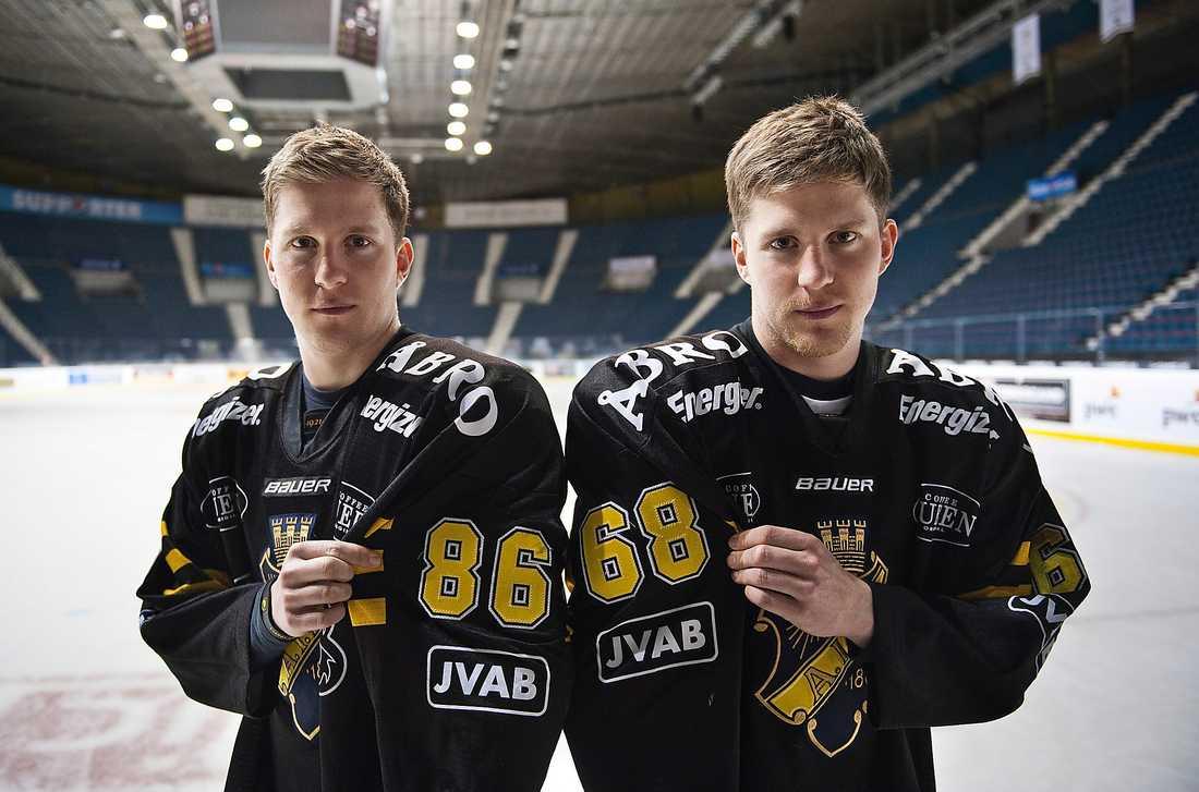 Tvillingarna Oscar och Victor Ahlström.