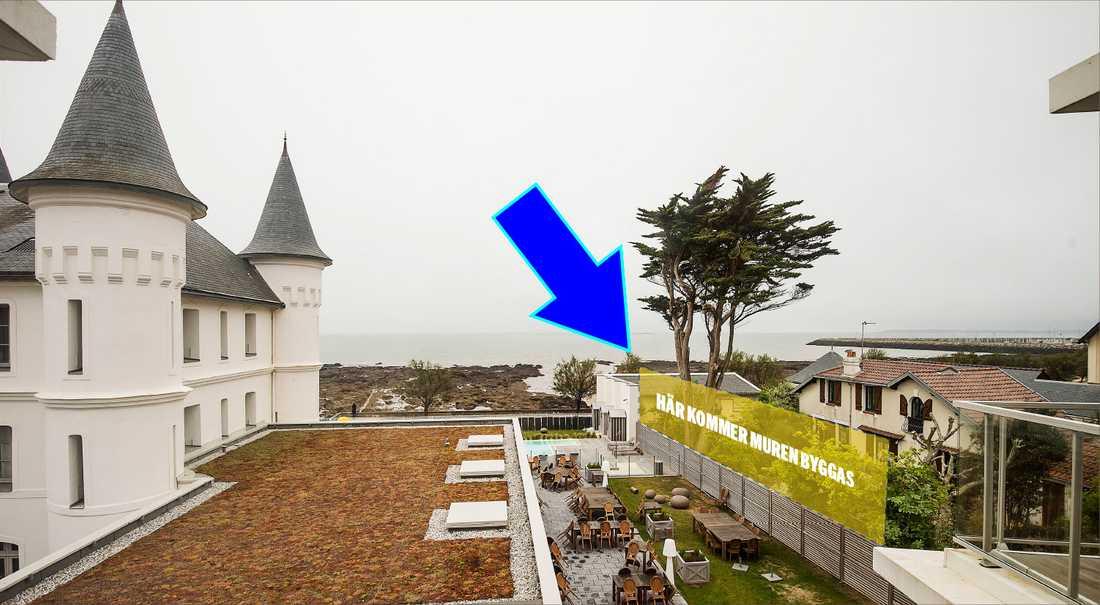 Blågult har krävt att en sorts mur byggs upp mot grannen.