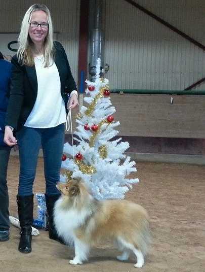 Åsa Hedlöf med sin hund Boss.
