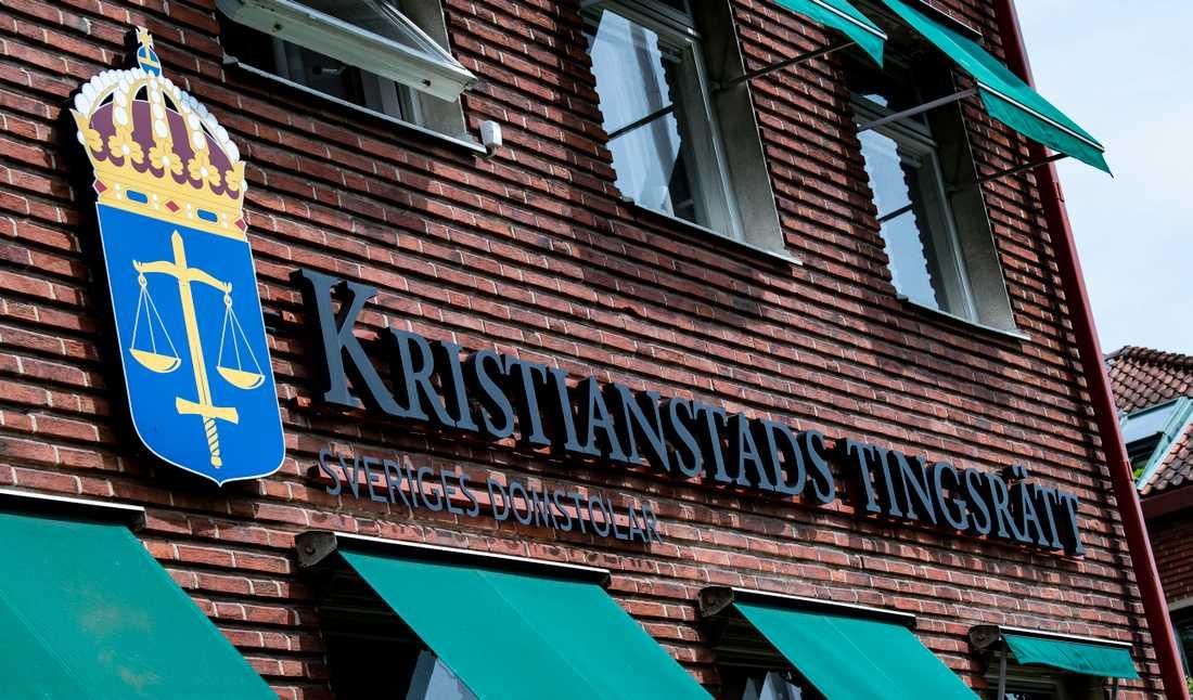 Kristianstads tingsrätt dömer en man för bland annat mordförsök efter en vansinneskörning i början av april. Arkivbild.