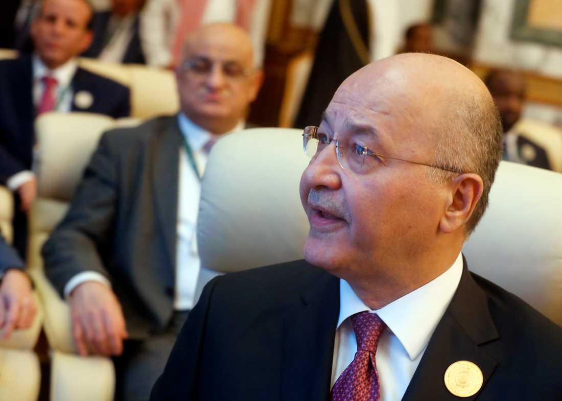 Iraks president Barham Salih. Arkivbild.