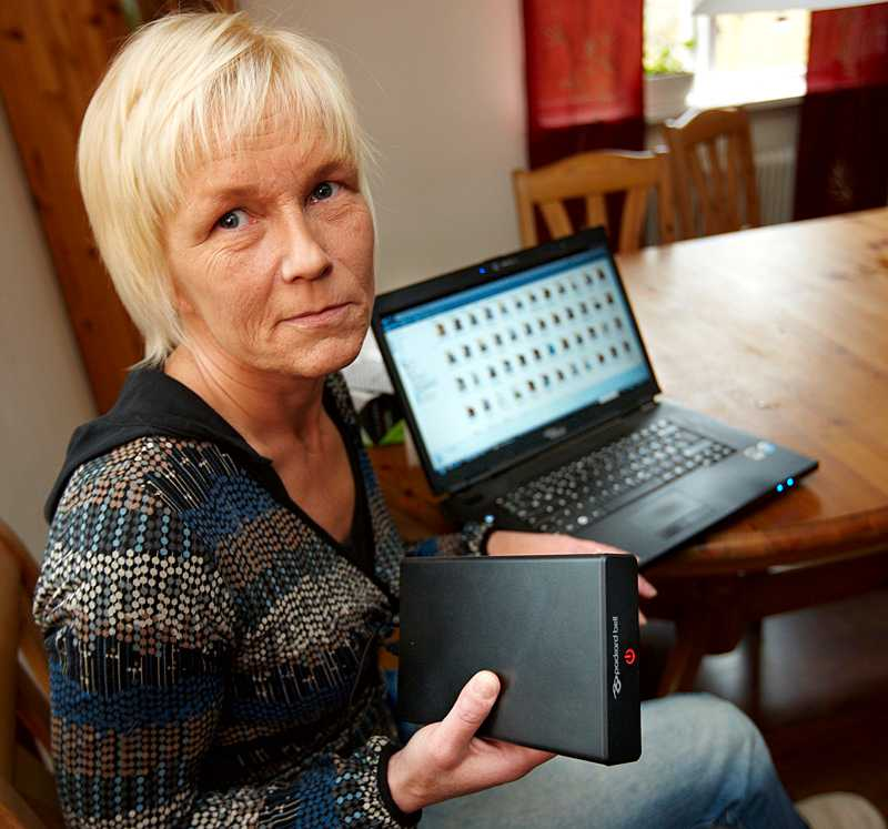 Eva-Lena Lisselgård köpte ny hårddisk - som visade sig vara begagnad.