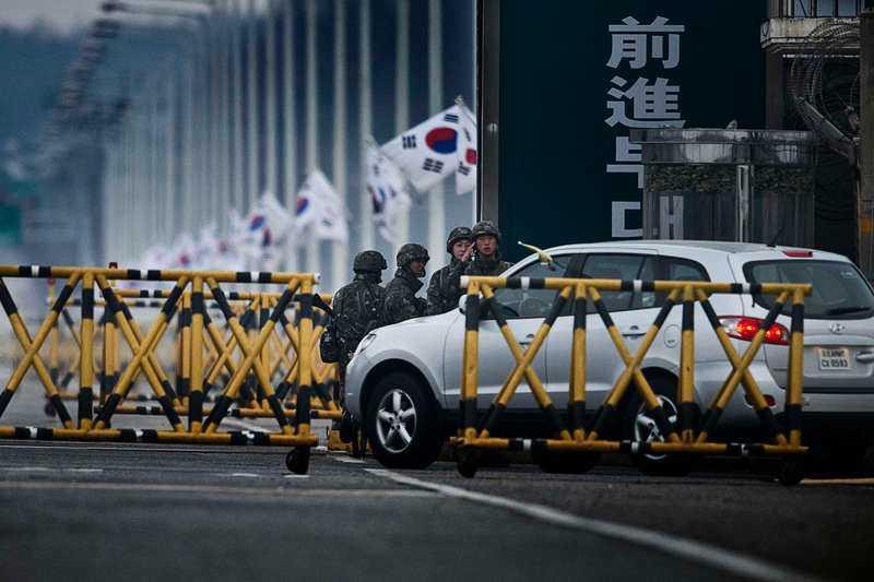 Industrikomplexet Kaesong den 1 april.