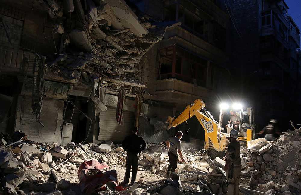 Förödelse i Aleppo.
