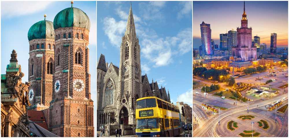 München, Dublin och Warszawa är nya höstfavoriter.
