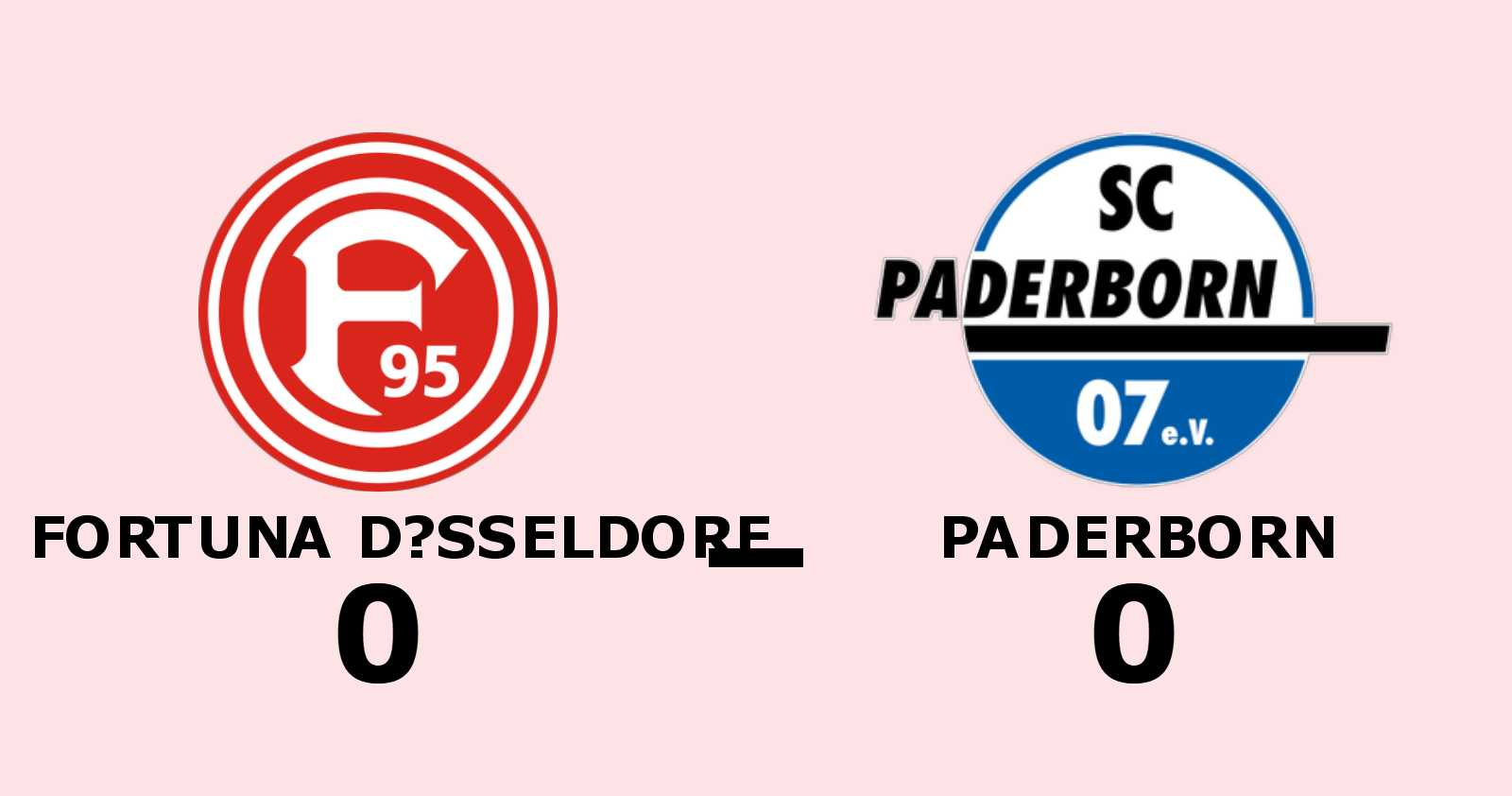 Fortuna Düsseldorf och Paderborn kryssade i mållös match