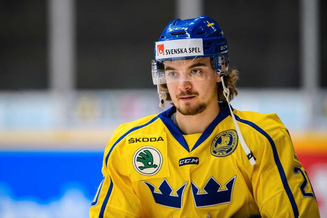 Adam Brodecki fick nyligen göra debut i Tre Kronor