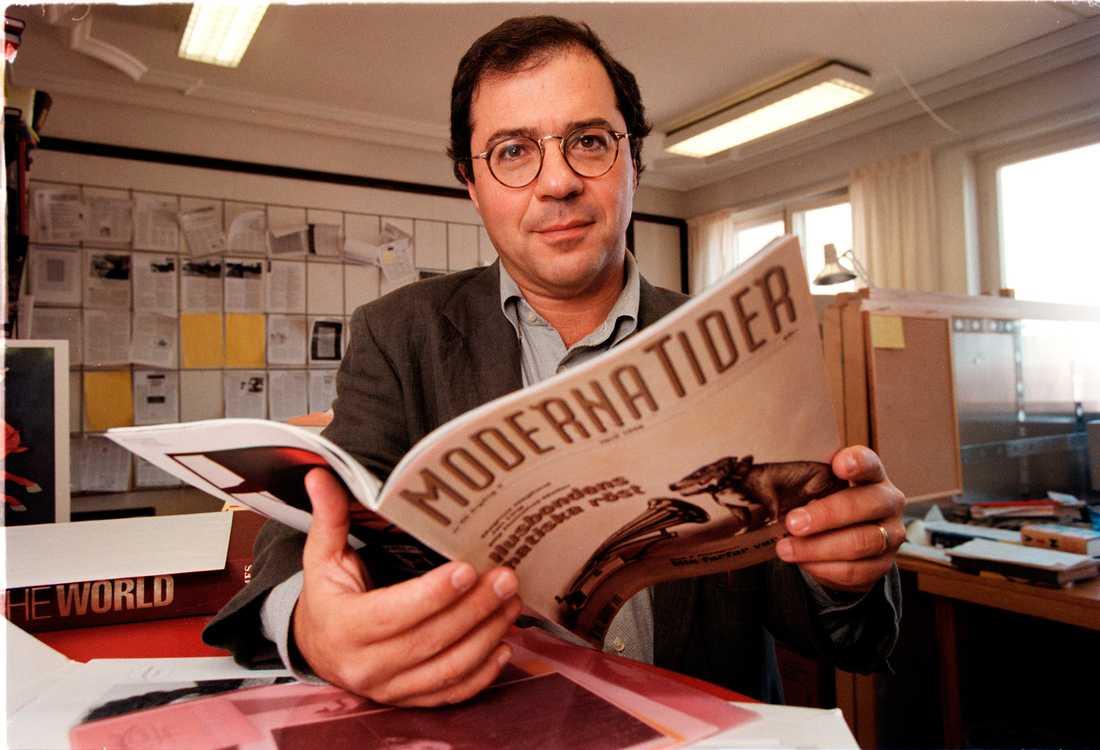 Göran Rosenberg var under 1980-talet chefredaktör på Jan Stenbecks tidskrift Moderna Tider. Foto: Björn Elgstrand/Arkiv