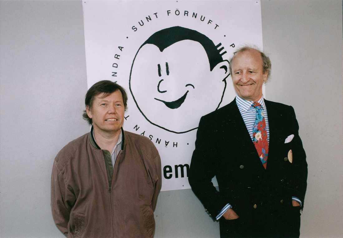 Bert Karlsson och Ian Wachtmeister 1991