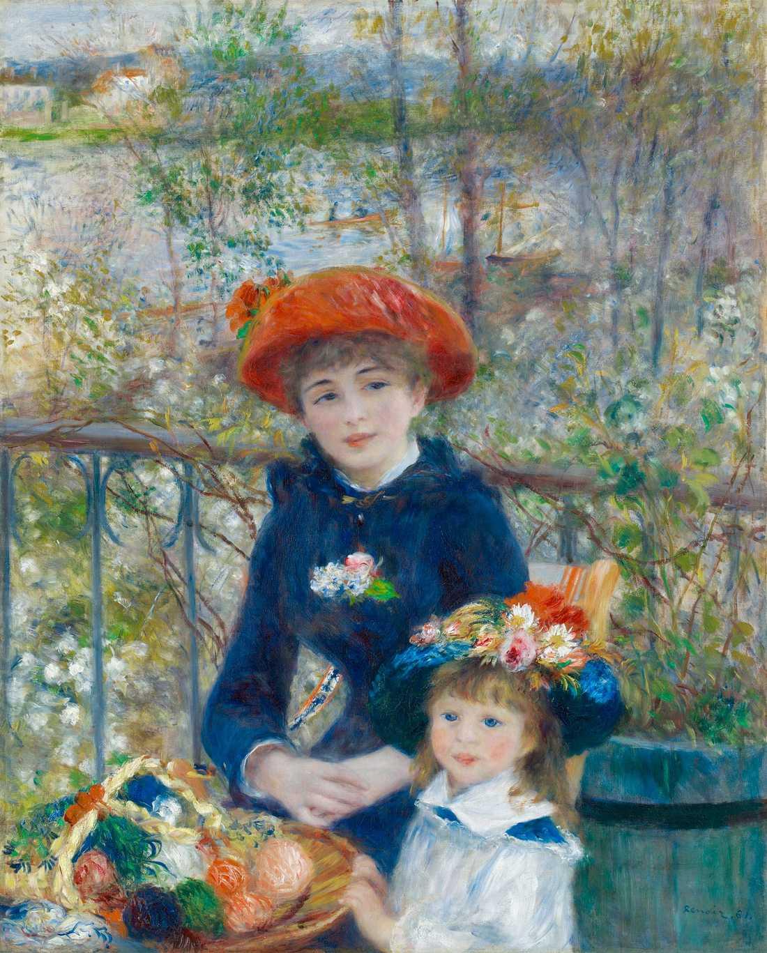 """Renoirs """"På terassen"""" från 1881."""