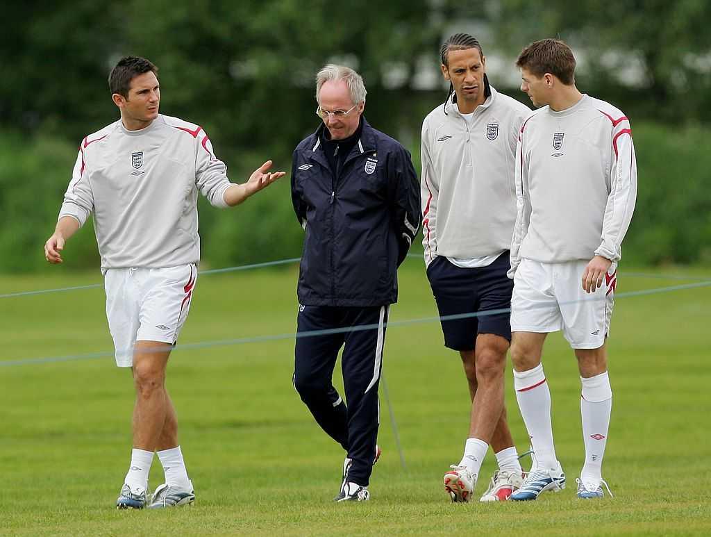 Svennis tillsammans med Lampard, Ferdinand och Gerrard.