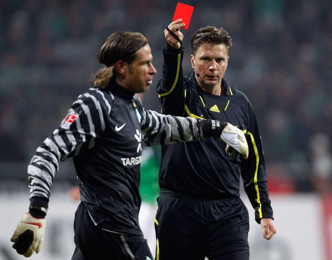 Tim Wiese, här i Werder Bremen, dissades av sin arbetsgivare.