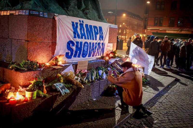 Platsen där Showan Shattak attackerades av nazister i mars 2014. På måndag inleds rättegången.