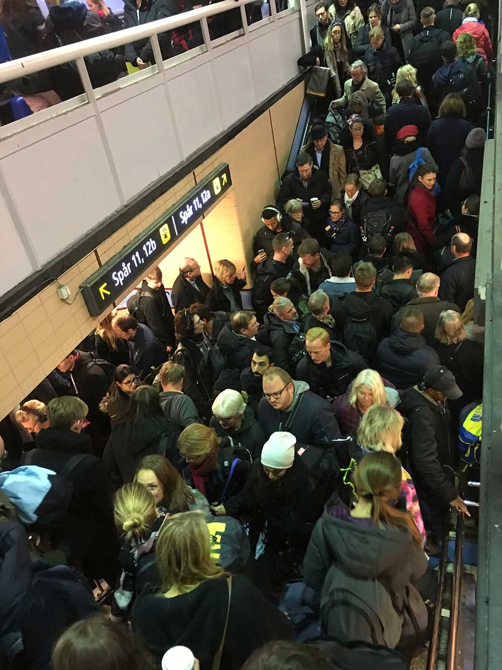 Kaos på Stockholms centralstation.