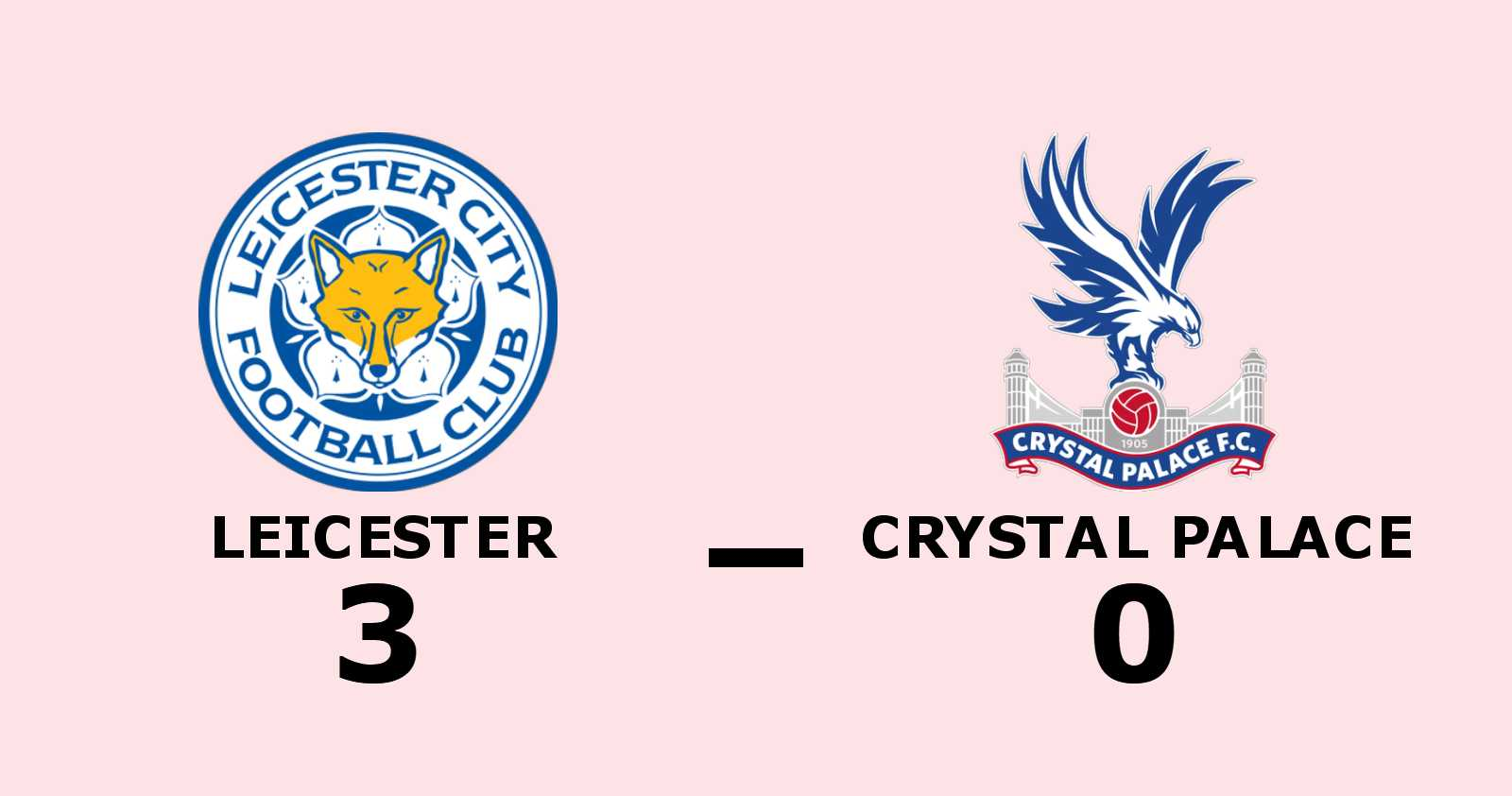 Leicester vann efter Vardys dubbel