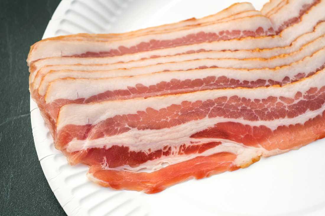 22 ton bacon fanns i den lastbil som välte vid Degeberga i Skåne. Arkivbild.