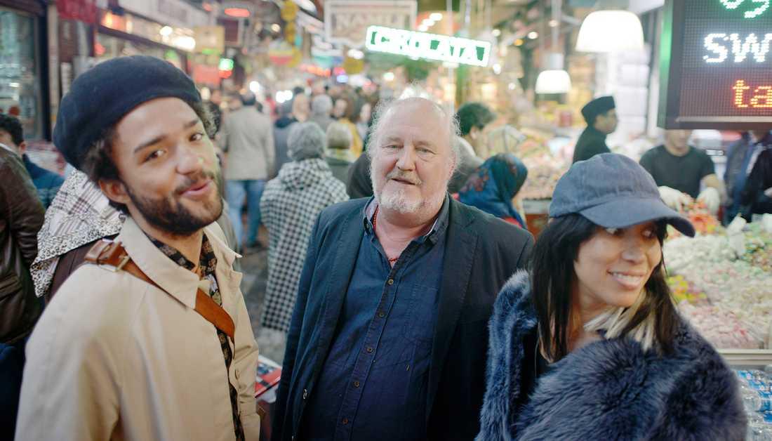 Adrian Modiggård, Plura Jonsson och Titiyo Jah i Istanbul.