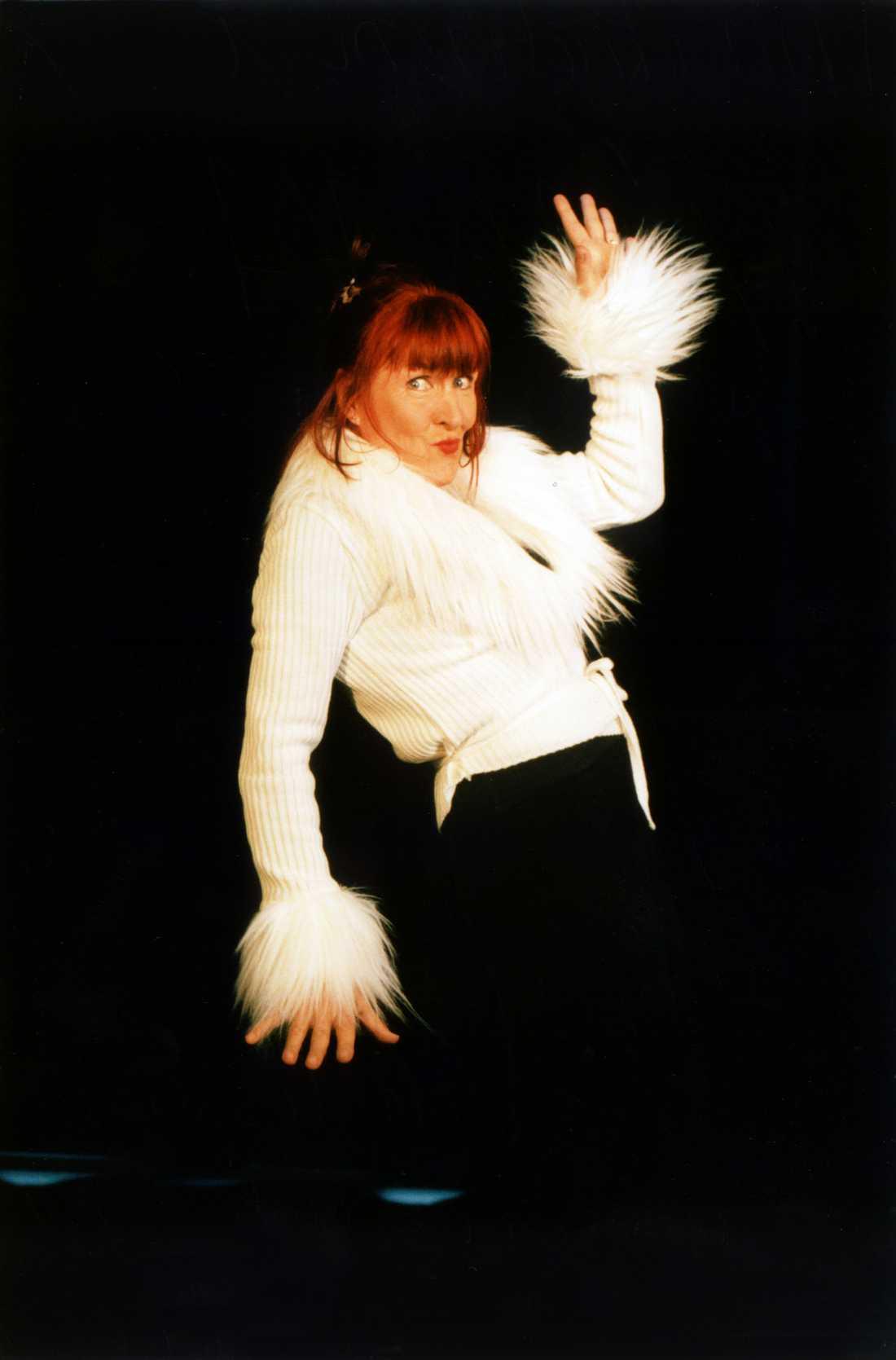 Kim Anderzon i föreställningen vivagina.