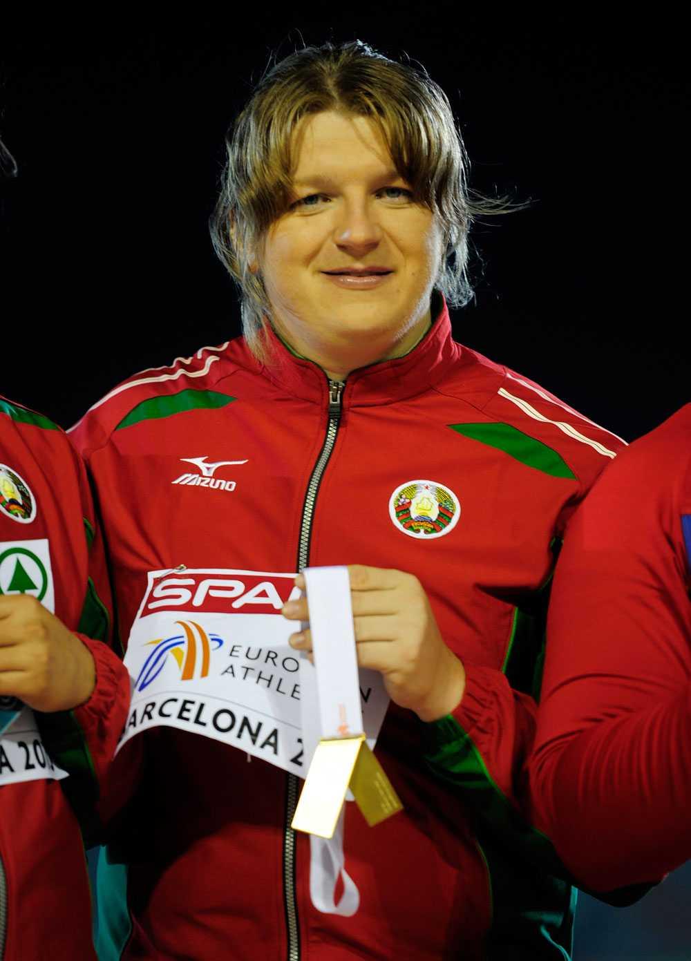 Med en guldmedalj i Barcelona 2010.