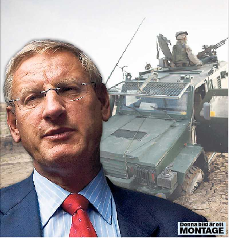 Vägrar diskutera Carl Bildt vill inte debattera utrikespolitik med de rödgröna. Samtidigt propagerar han för krigsuppdrag i Afghanistan.