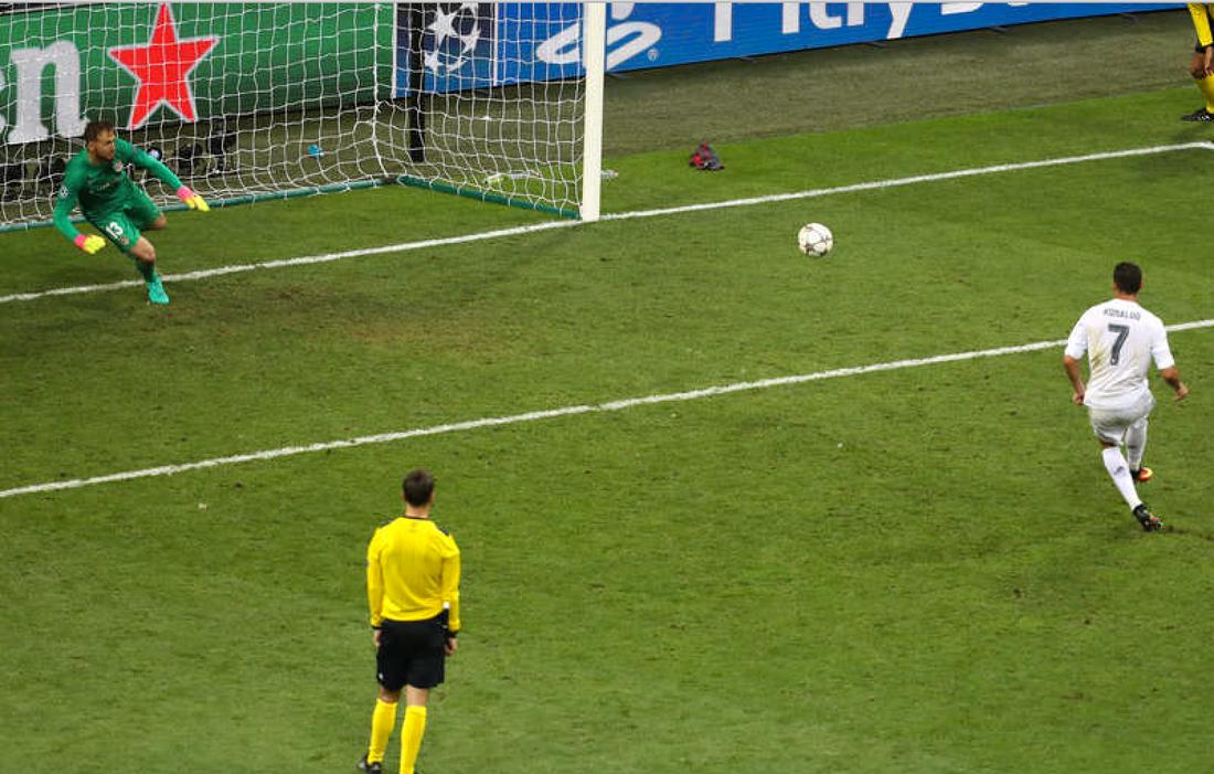 Ronaldo satte spiken i kistan med sin straff. Foto: AP