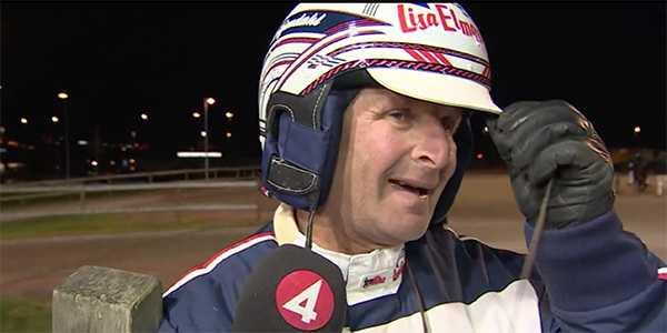 Reijo Liljendahl var väldigt rörd efter segern på V75.