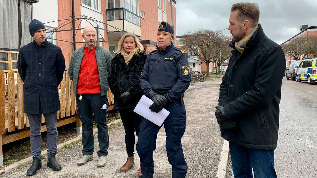 På torsdagens samlades representanter från bland annat polisen och kommunen för att berätta om den nya satsningen.