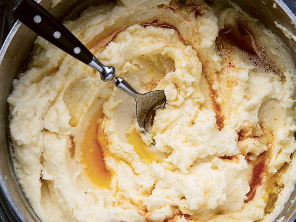 Potatismos med brynt smör