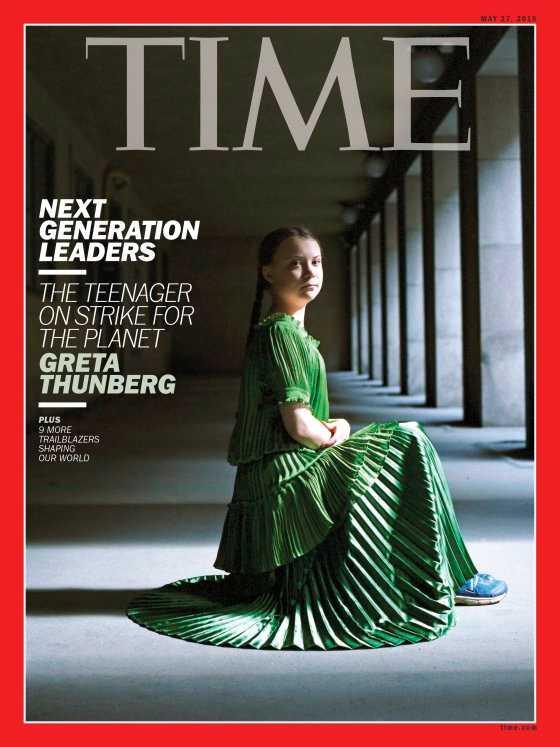 Greta Thunberg på omslaget till Time Magazine