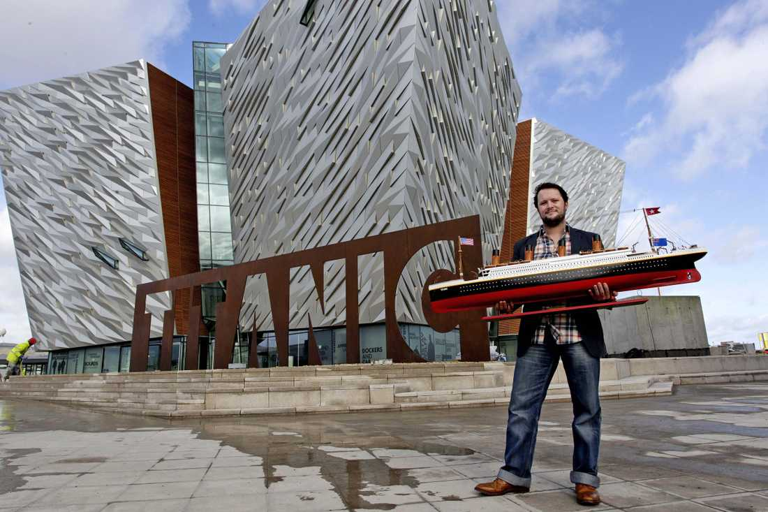 Justin Lowrys modell av fartyget är ett av många utställningsobjekt.