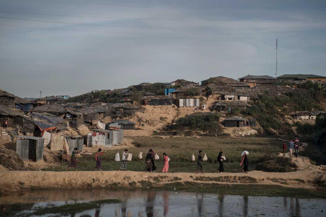 Flyktinglägret Kutupalong, i Bangladesh.