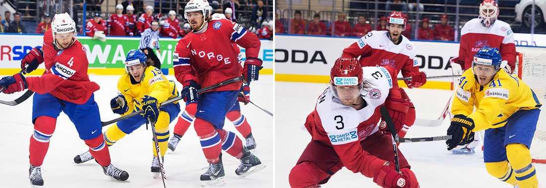 Matcher för Tre Kronor mot Norge och Danmark i ett EM kan bli verklighet.