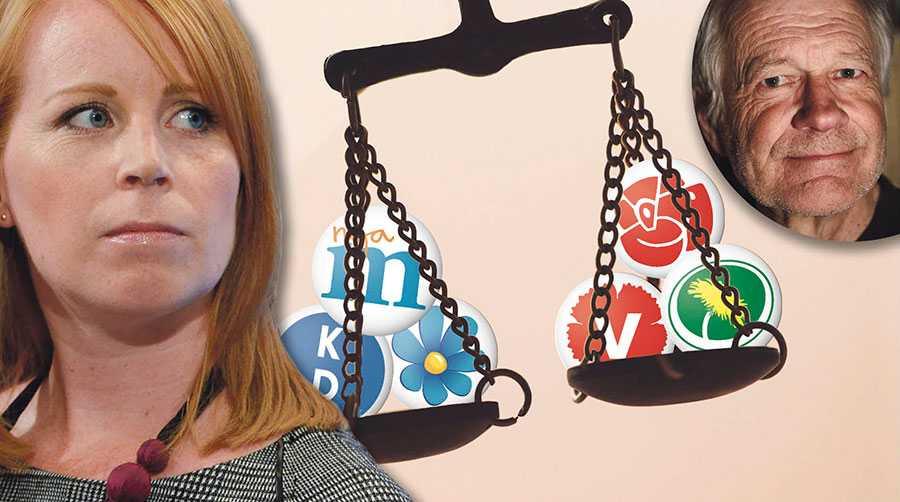 Annie Lööf har sagt att hon aldrig kan acceptera att i regeringsställning bli beroende av SD:s röster. Men kan hon tänka sig att släppa fram en regering bestående av M och KD, skriver Per Sundgren.