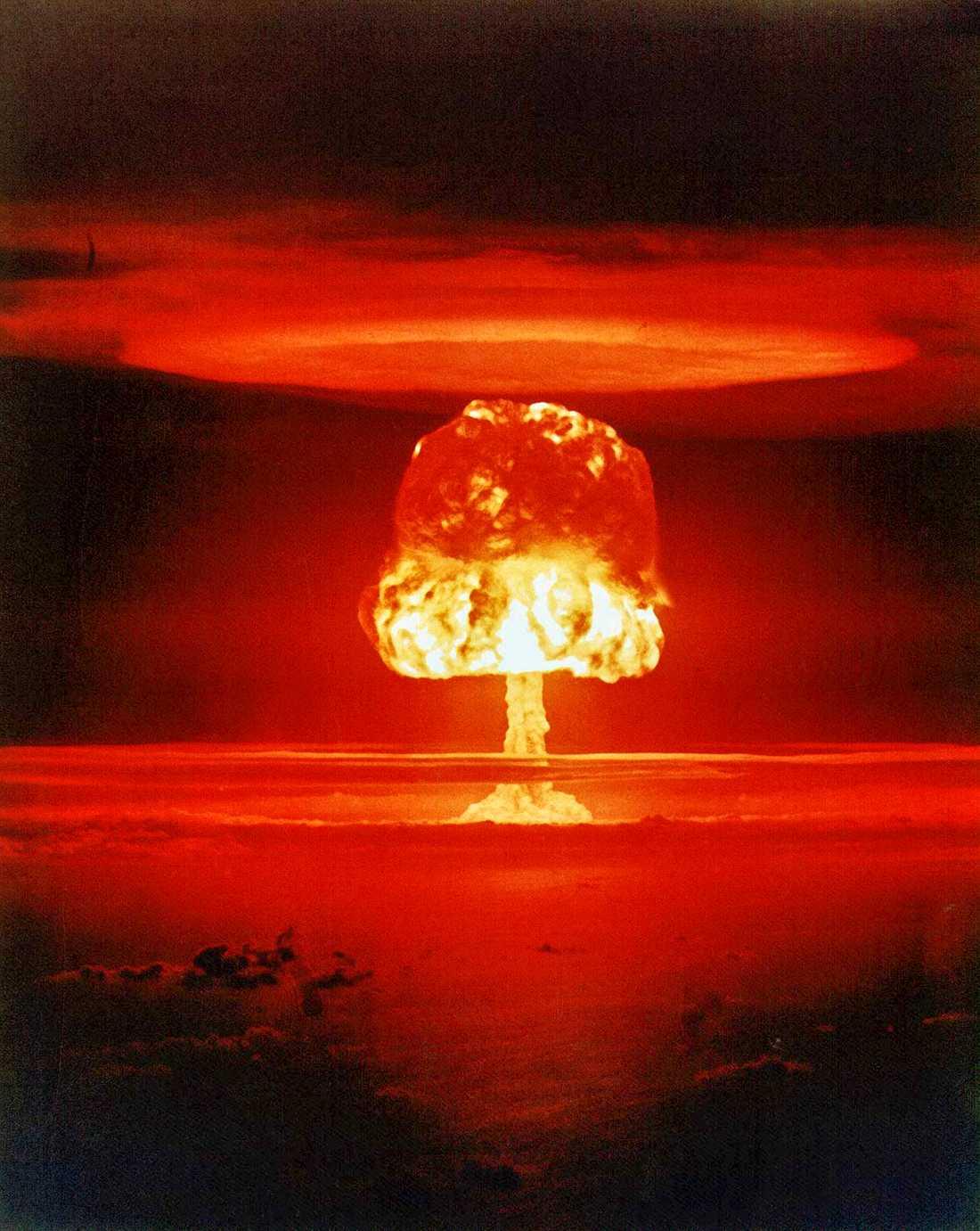 Bild från ett amerikanskt kärnvapentest i början av 1960-talet.