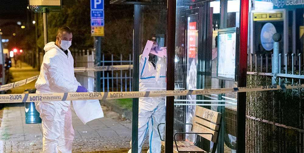 En kvinna blev svårt skadad när hon attackerades vid en busskur i Malmö.