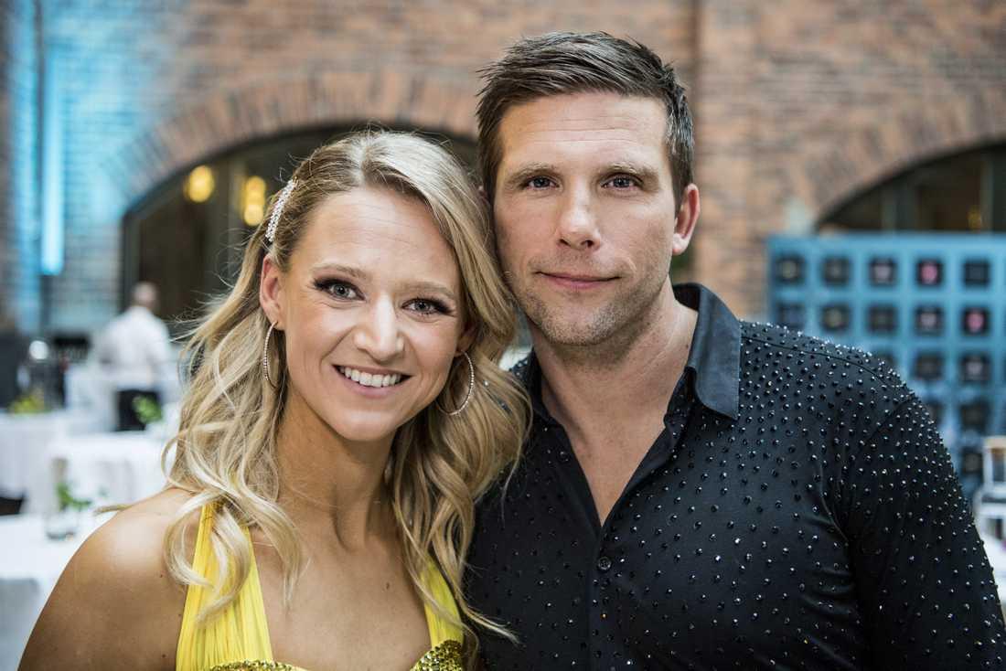 Anders Svensson med danspartnern Maria Zimmernan.