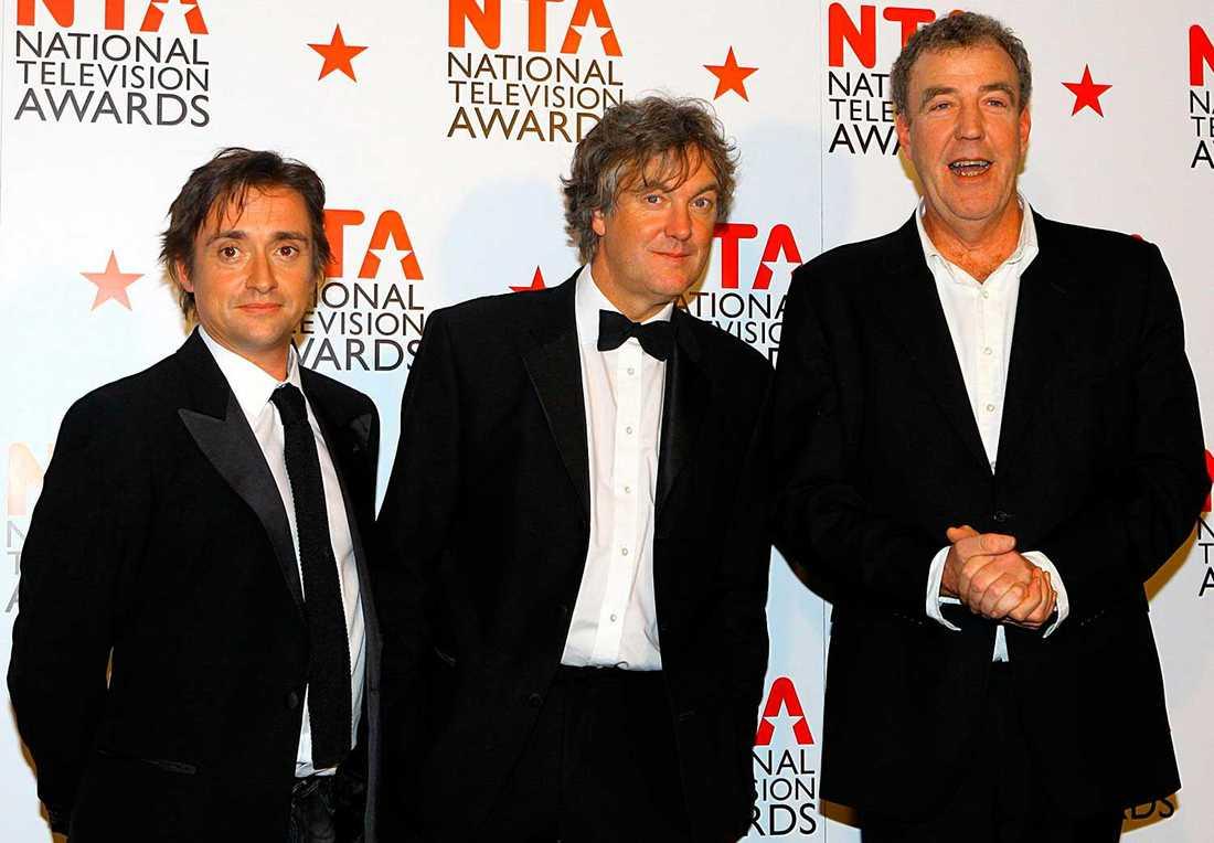 Top gear-programledarna Richard Hammond, James May och Jeremy Clarkson.