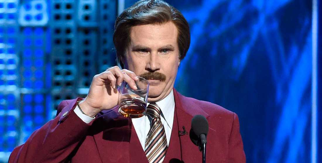 Will Ferrell som Ron Burgundy.