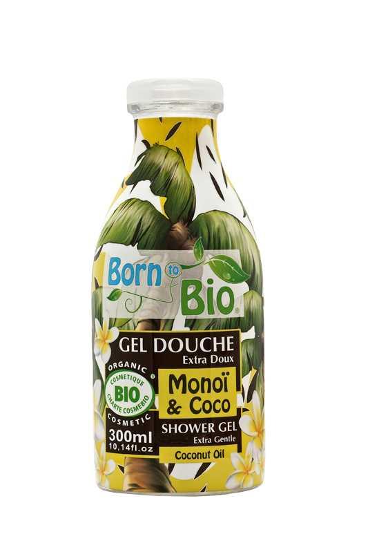 """Fräsch dusch Duschkräm som låter dig njuta av söta dofter med monoiolja och kokosnötter. Består av 100 procent naturlig doft och är fri från färgämnen. Born to Bio """"Shower gel coconut & monoi"""", 300 ml, 125 kronor, Eleven.se."""