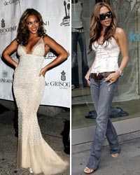 Beyoncé Knowles har en snyggare kropp än Victoria Beckham –i alla fall enligt 2000 brittiska kvinnor, som har röstat om saken.
