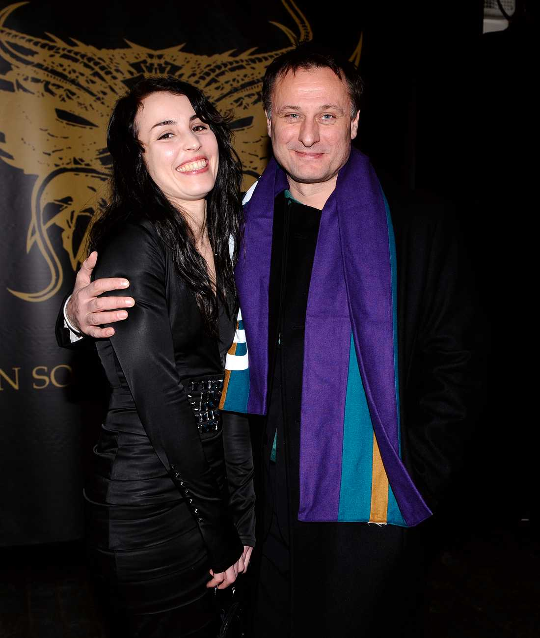 """Noomi Rapace och Michael Nyqvist på premiären av """"Män som hatar kvinnor"""" i februari 2009."""