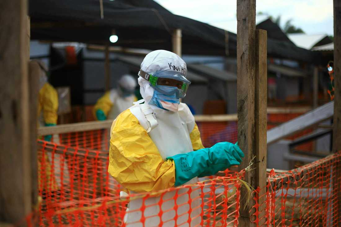 Oron växer över det allvarliga ebolautrottet i östra Kongo-Kinshasa. Staden Beni är en av dem där ett ebolasjukhus skapats för att försöka stoppa utbrottet och vårda de sjuka. Bilden är från april 2019.