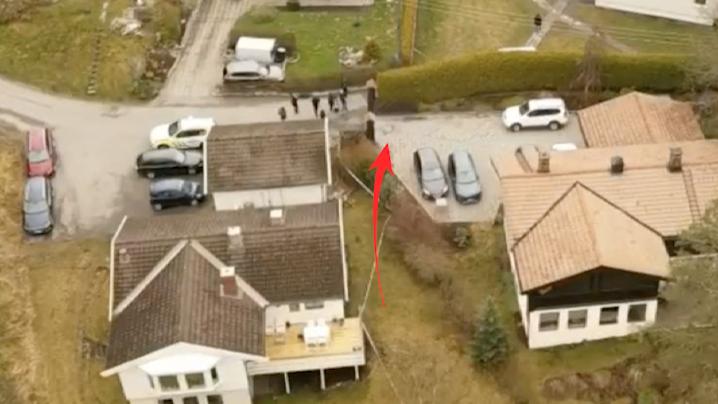 Omgivningarna kring Hagens hus har genomsökts.