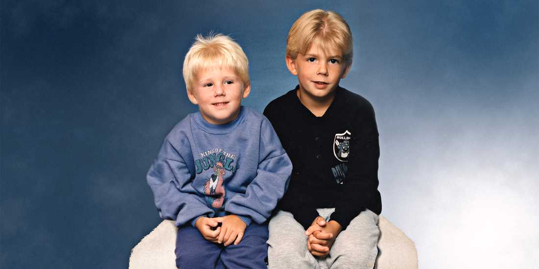 Robin var fem och Christian sju när de dömdes på en presskonferens.