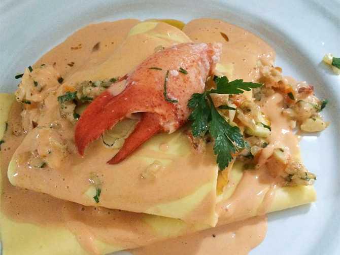 Lasagne med hummer. Extra festligt middagstips till dejten eller Alla hjärtans dag.
