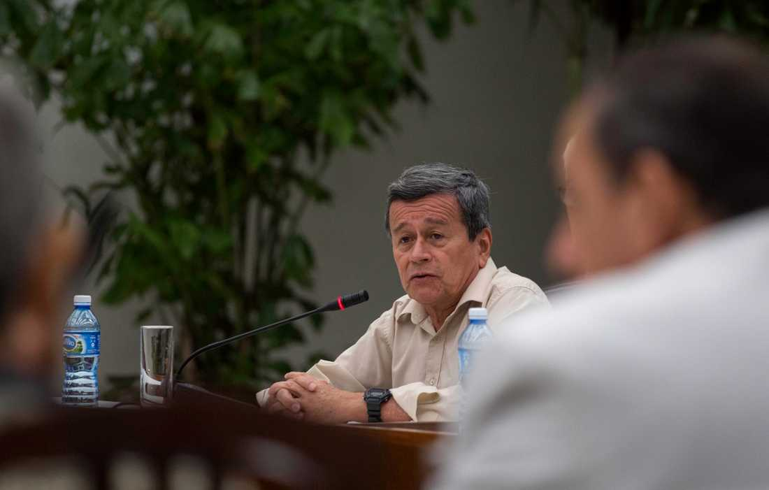 Pablo Beltrán, ELN-gerillans chefsförhandlare. Arkivbild.