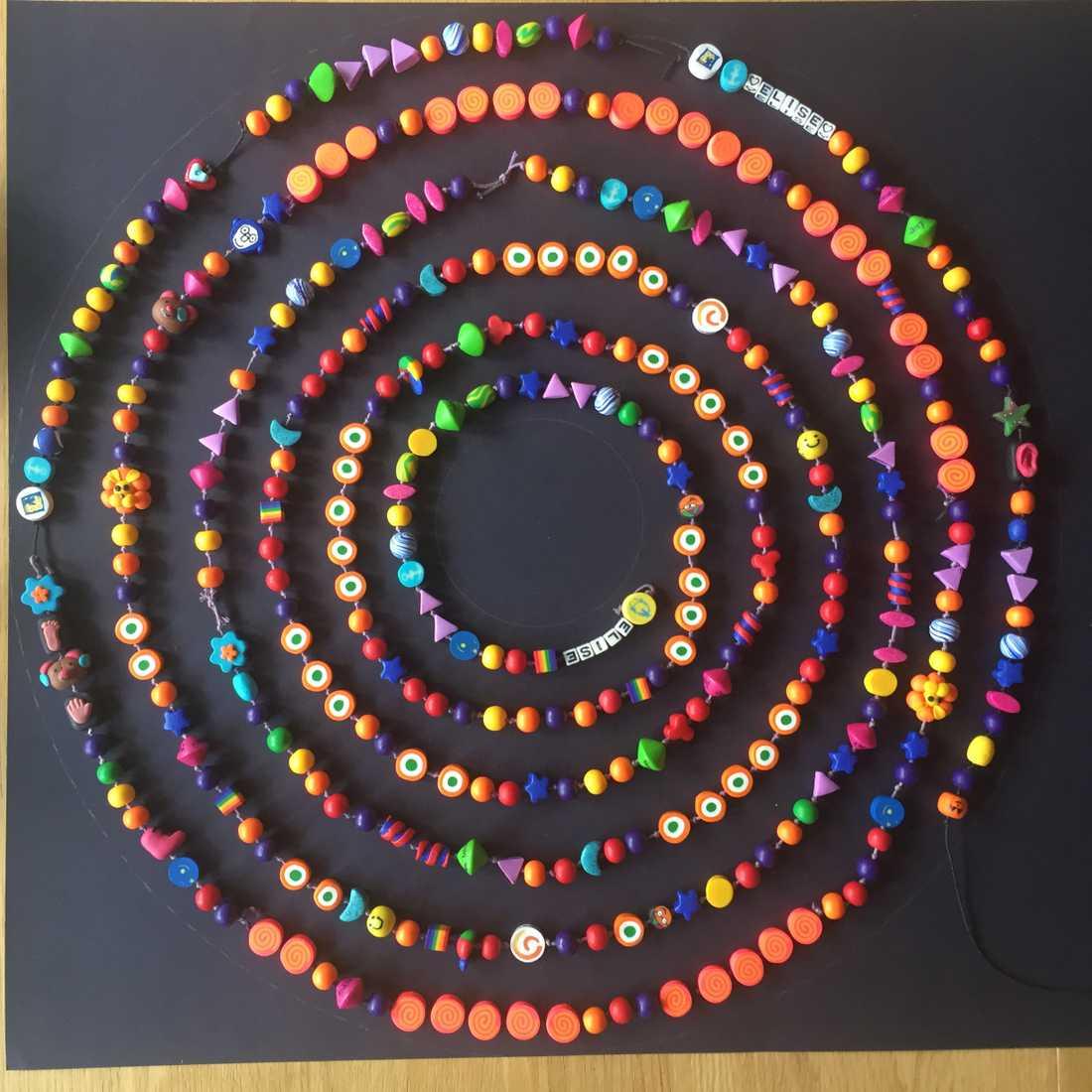 Supersnöret, där varje pärla markerar en händelse i barnets liv.